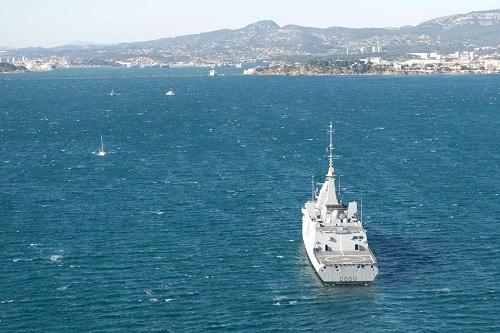 Arrivée de la frégate 'Aquitaine' à Toulon
