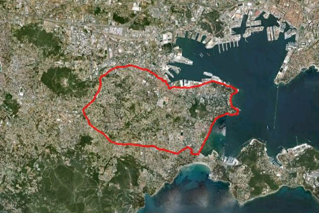 Corniche, 14 km