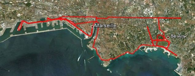 Parcours du marathon de Marseille