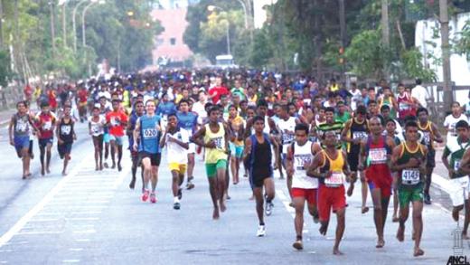 Marathon de Colombo, au Sri-Lanka