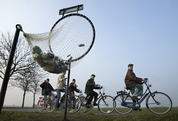 Cyclistes et blikvanger